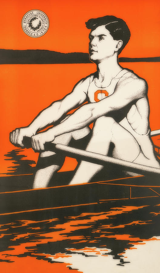 Poster Photograph - Syracuse University Crewman by Library Of Congress