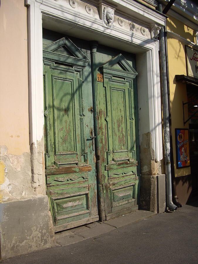 Rustic Photograph - Szentendre Doors by Julie Ringer