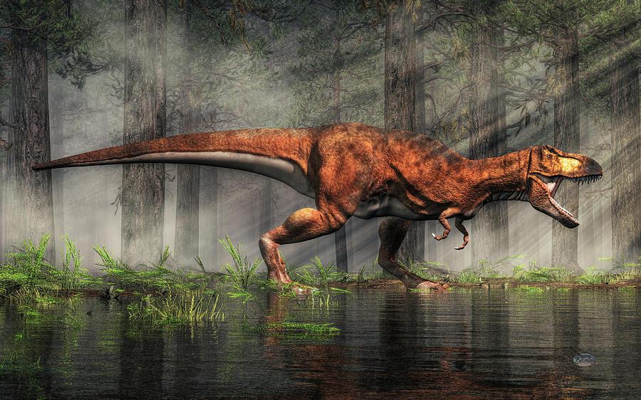 Tyrannosaurus Digital Art - T-Rex by Daniel Eskridge