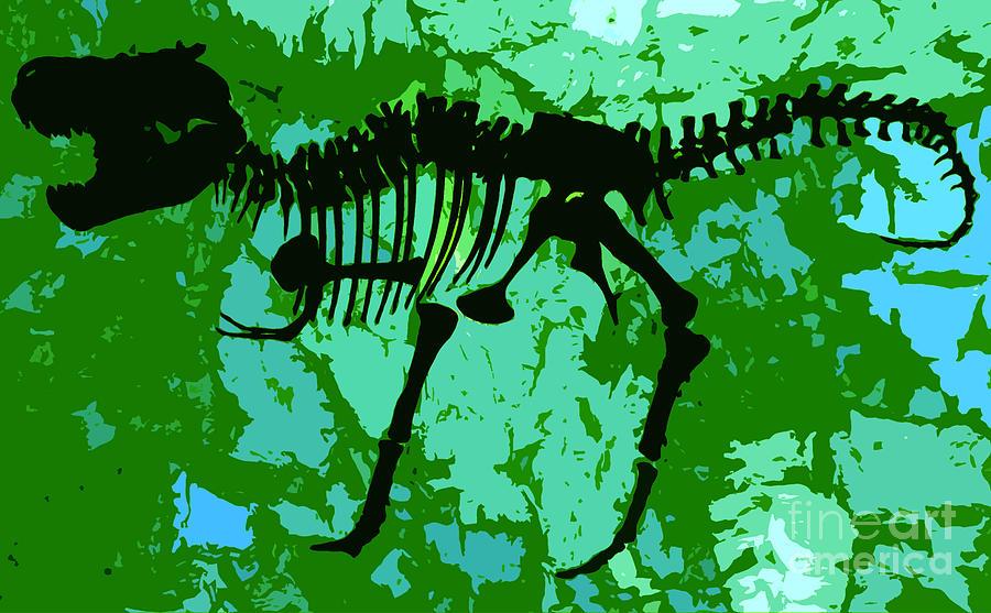 T Rex Digital Art - T. Rex by David Lee Thompson