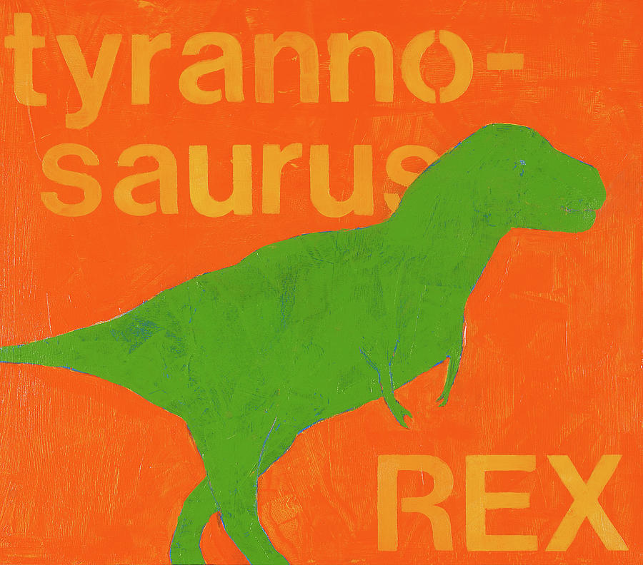 Tyrannosaurus Rex Painting - T Rex by Laurie Breen