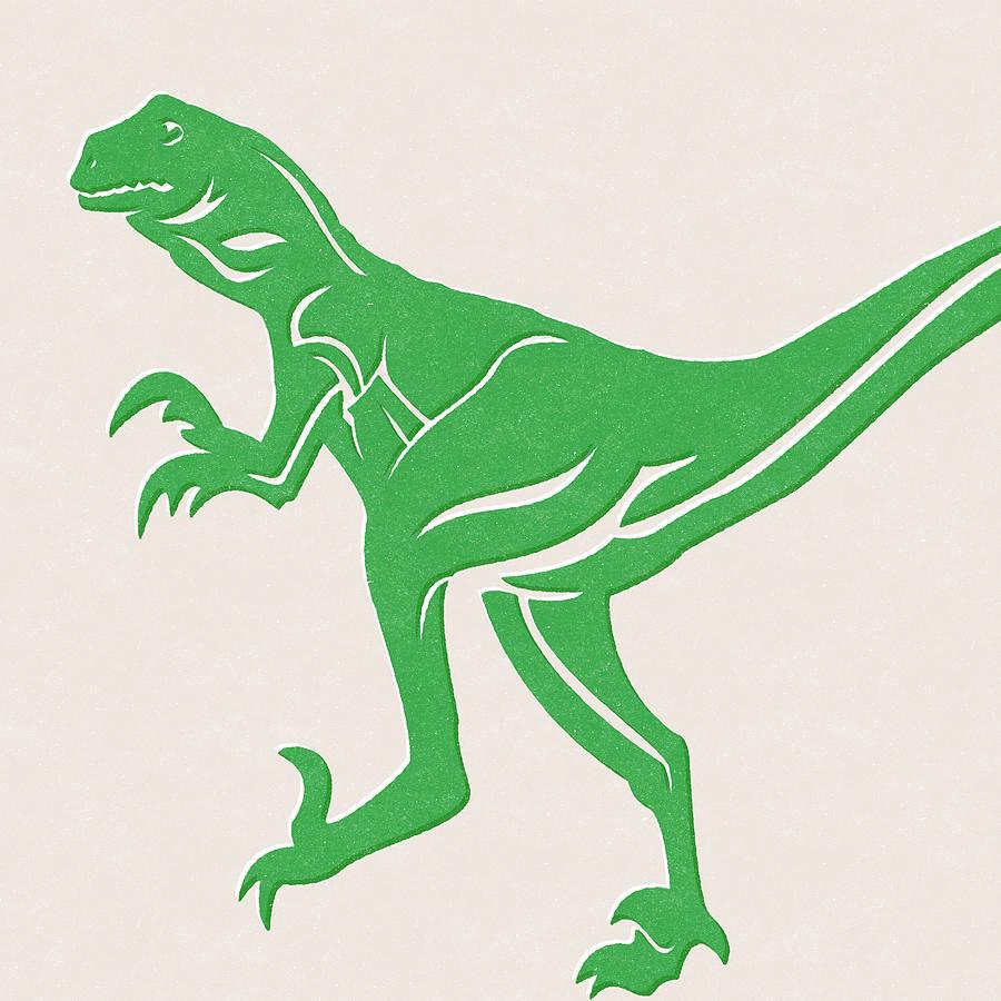T-rex Mixed Media