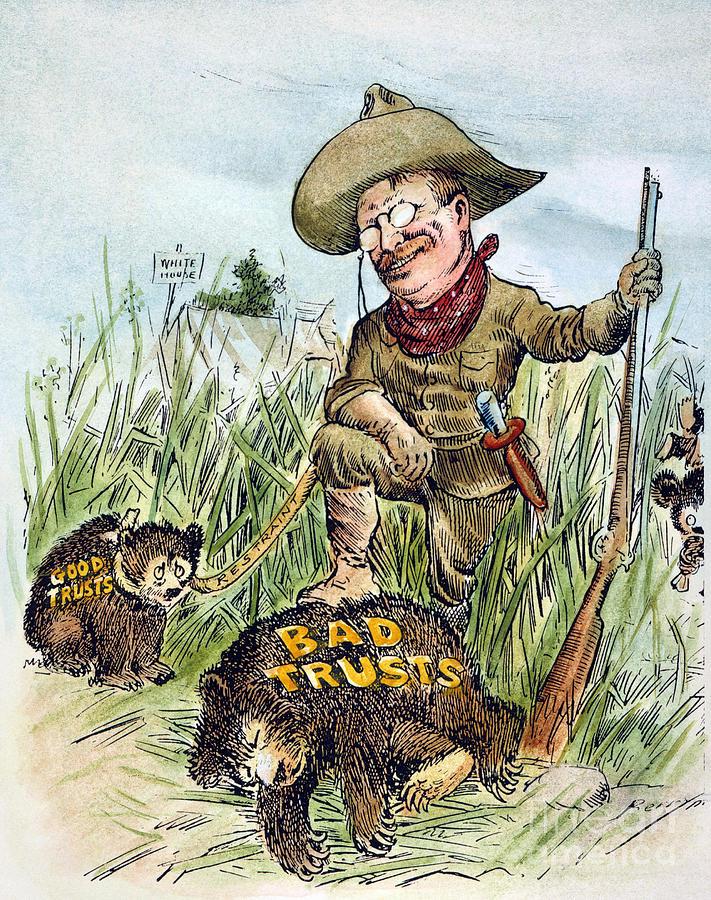 1909 Photograph - T. Roosevelt Cartoon, 1909 by Granger