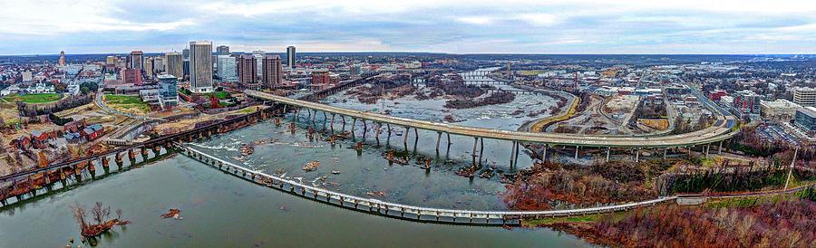 Rva Photograph - T. Tyler Potterfield Memorial Bridge by Tredegar DroneWorks