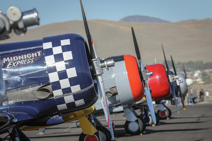 T6 Photograph - T6 Flight Line At Reno Air Races by John King