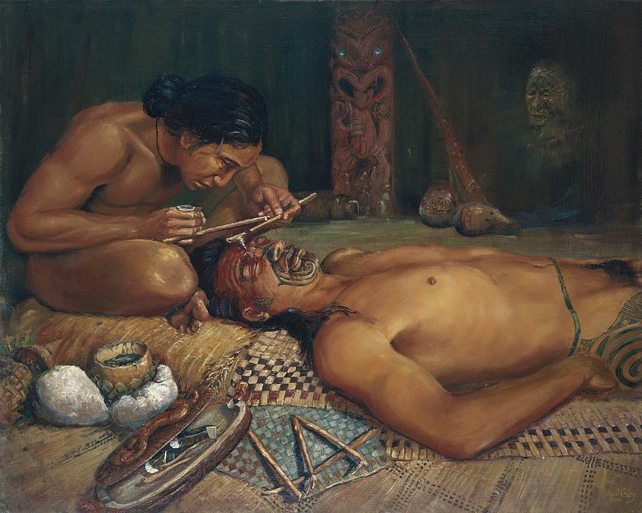 Ta Moko Painting - Ta Moko by Peter Jean Caley