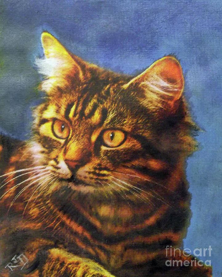 Tabby Blue Painting