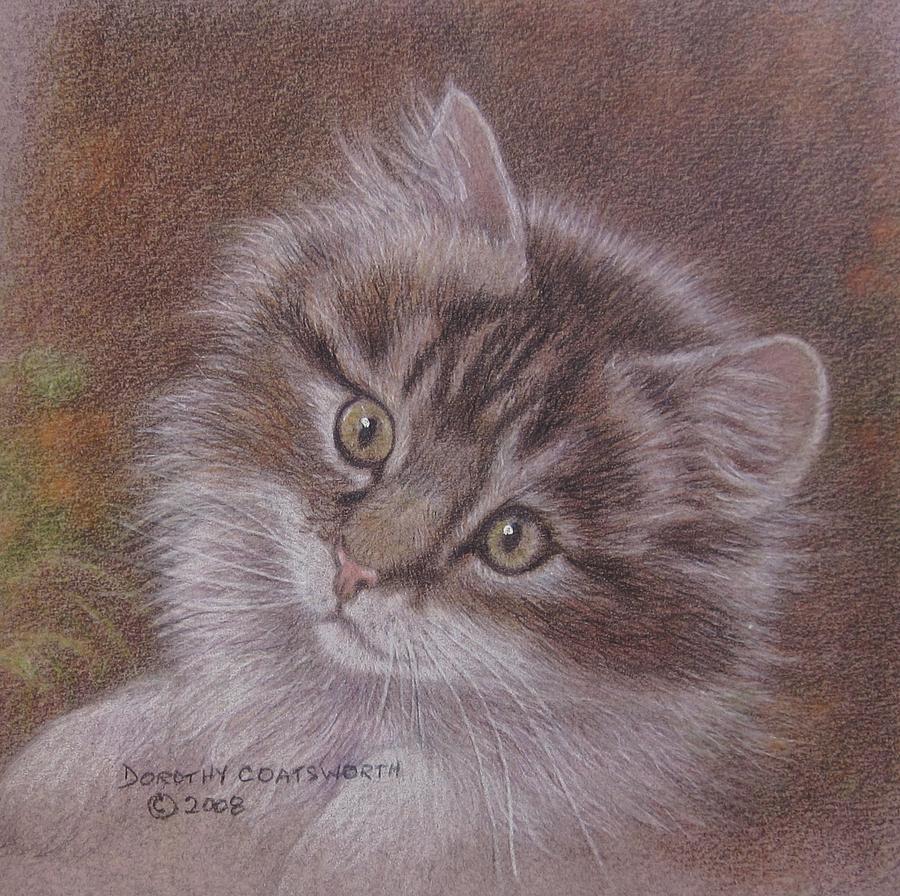 Tabby Kitten Painting by Dorothy Coatsworth