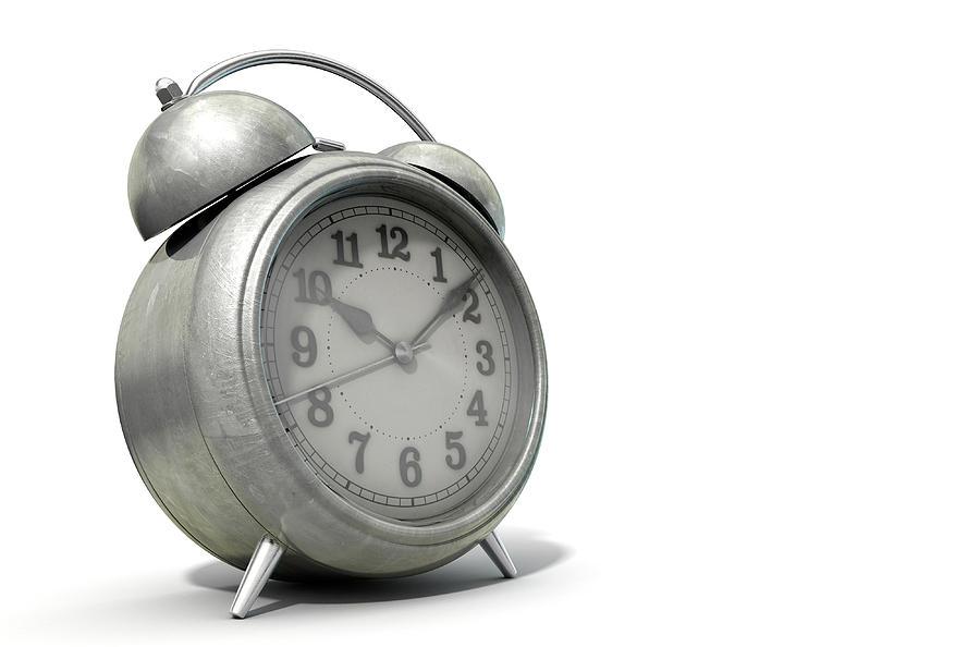 Alarm Digital Art - Table Clock by Allan Swart
