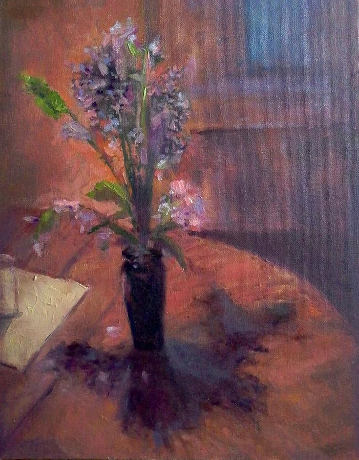 Table Flowers #1 Painting by Brian Kardell