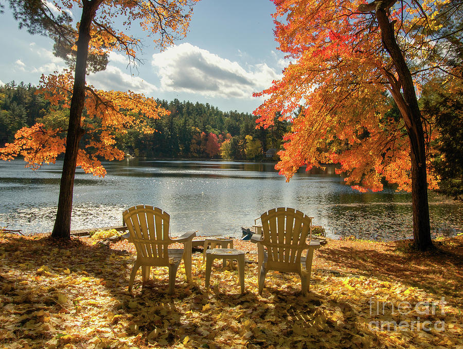 Fall In New Hampshire Photograph - Table For Two by Diana Nault
