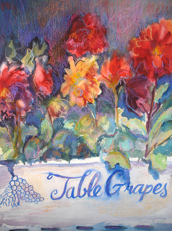 Flowers Painting - Table Grapes by Joyce Kanyuk