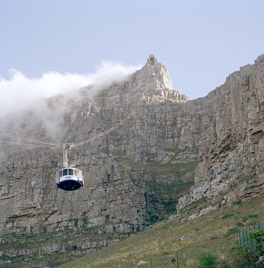 Cape Town Photograph - Table Mountain Cable Car by Shaun Higson