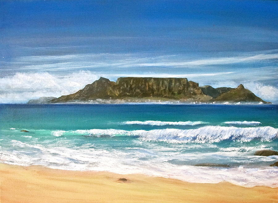 Cape Town Painting - Table Mountain by Heather Matthews