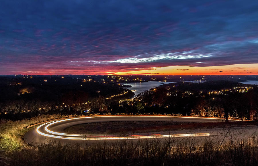 Table Rock Lake Photograph - Table Rock Lake Night Shot by Steven Jones