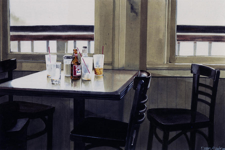 Beer Painting - Table Setting by Denny Bond