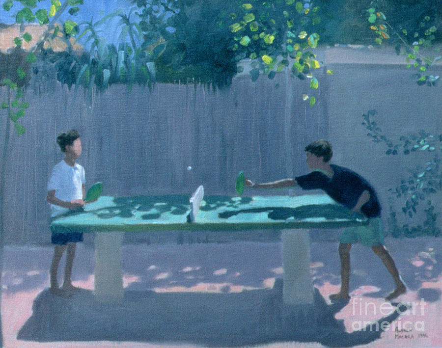 Ping Pong Painting - Table Tennis by Andrew Macara
