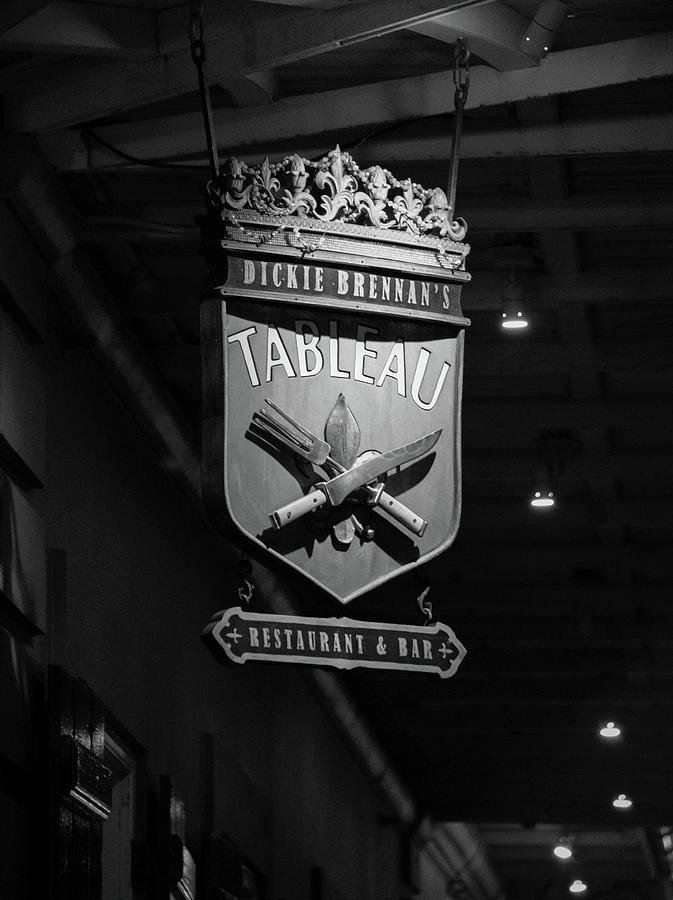 Tableau Sign In Black And White Photograph by Chrystal Mimbs