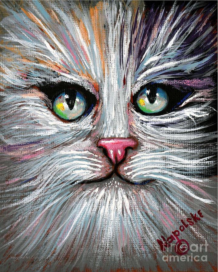 Tuxedo Cat Close Up by Barney Napolske