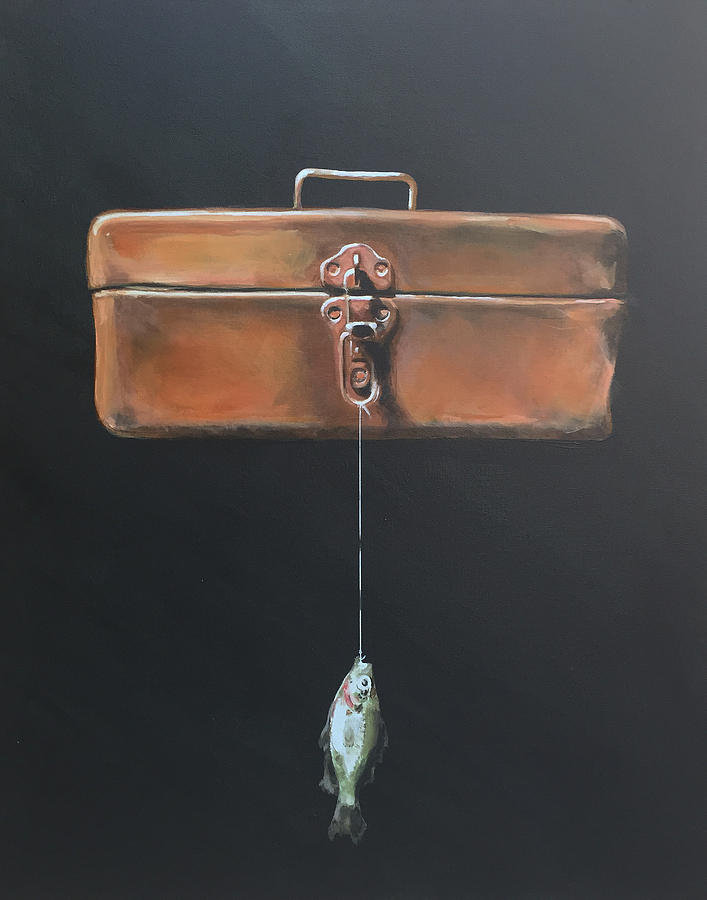 Tackle Box Painting - Tackle Box by Jeffrey Bess