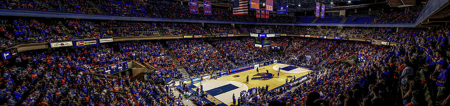 Bsu Photograph - Taco Bell Arena And Boise State Basketball by Lost River Photography