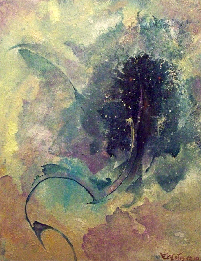 Abstract Painting - Tadpole by Fred Wellner