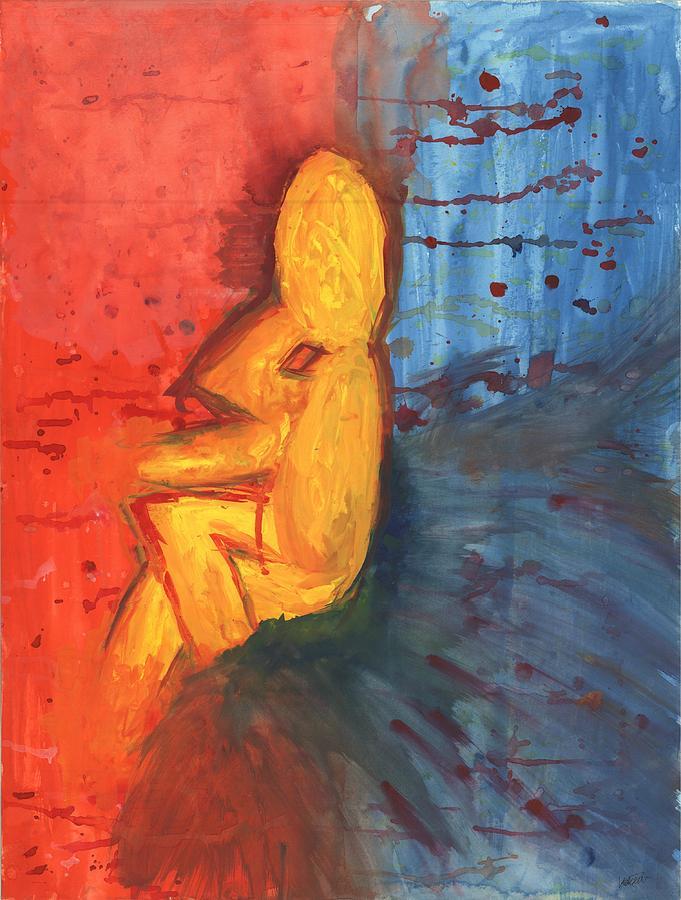 Thinking Man Painting