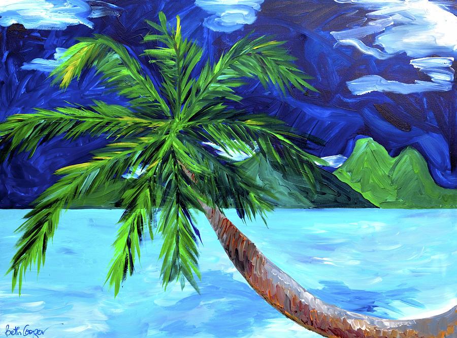 Tahiti Painting - Tahiti Beach by Beth Cooper