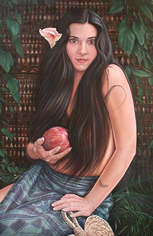 Portrait Painting - Tahitian Goddess by Richard Bulman