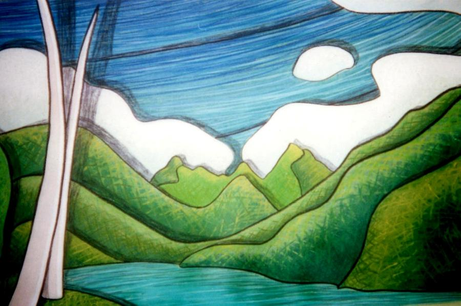 Mountains Painting - Tahitian Treat by Jason Charles Allen