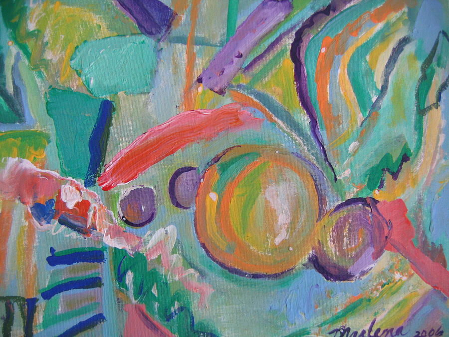 Abstract Painting - Tahoe Air by Marlene Robbins