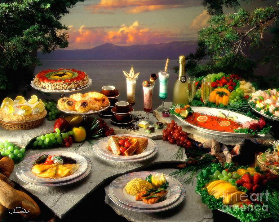 Food Photograph - Tahoe Buffet by Vance Fox