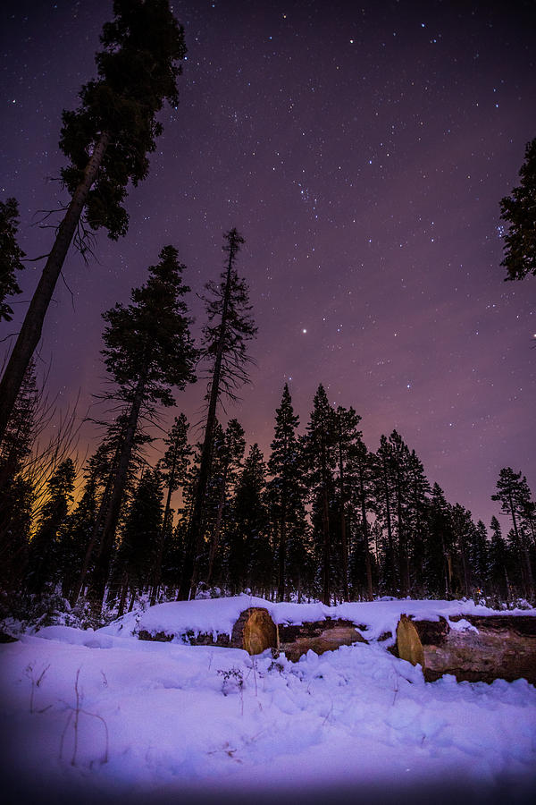 Landscape Photograph - Tahoe Mountain - New Years Eve by Karl Alexander