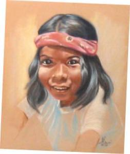 Tahoe Paiute Boy Painting by Margaret A Clark Price
