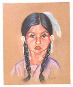 Tahoe Paiute Girl Painting by Margaret A Clark Price