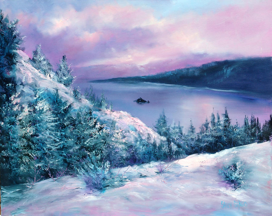 Winter Painting - Tahoe by Sally Seago