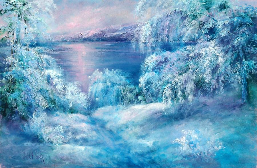 Snow Painting - Tahoe Winter by Sally Seago