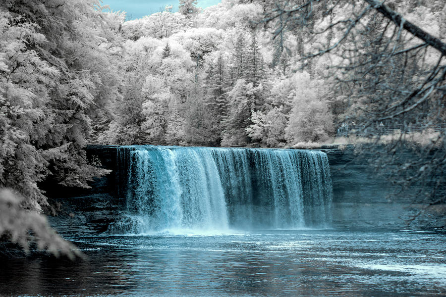 Landscape Photograph - Tahquamenon Falls Ir 720nm by Dustin Goodspeed
