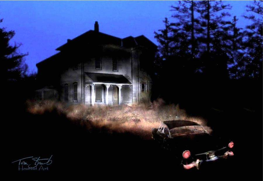Haunted House Digital Art - Tail Lights by Tom Straub