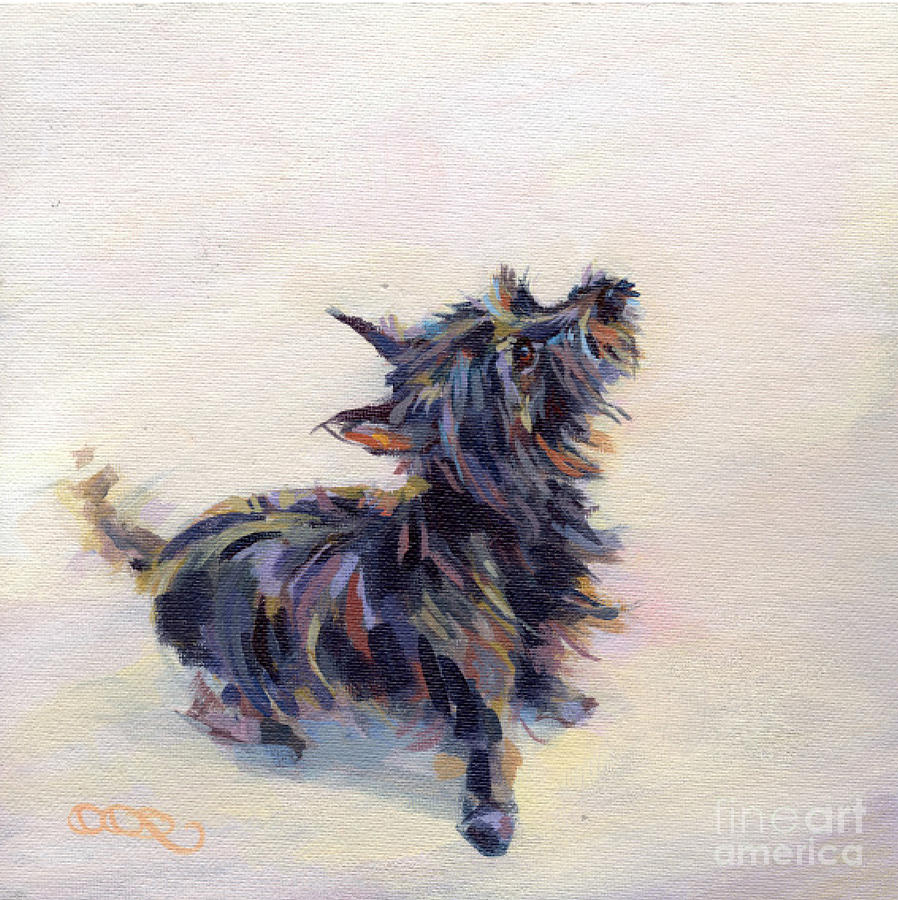 Cairn Painting - Tail Wagging Fury by Kimberly Santini