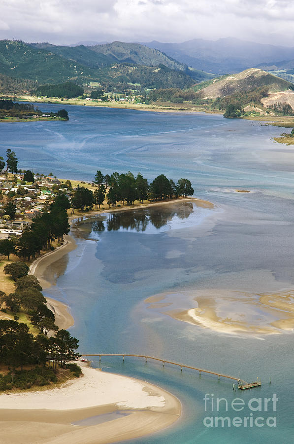 Aerial Photograph - Tairua Harbour by Himani - Printscapes