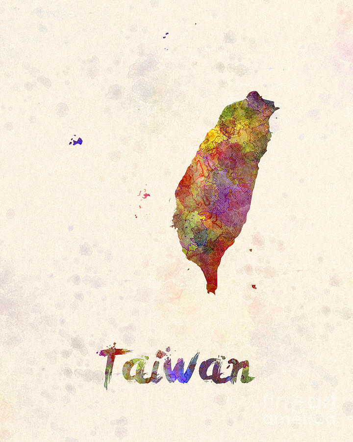 Taiwan Painting - Taiwan in watercolor by Pablo Romero