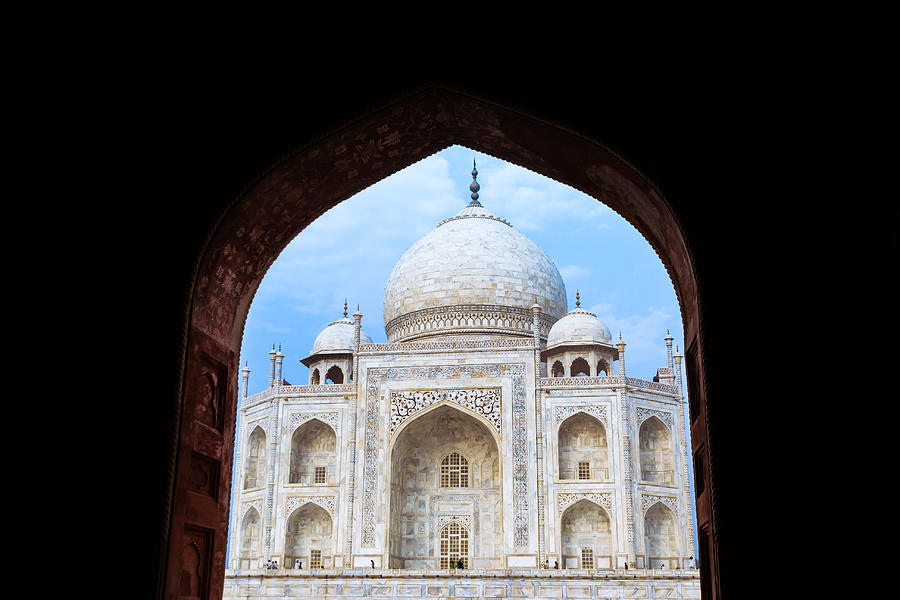 Taj Mahal Photograph - Taj Archway by Nila Newsom