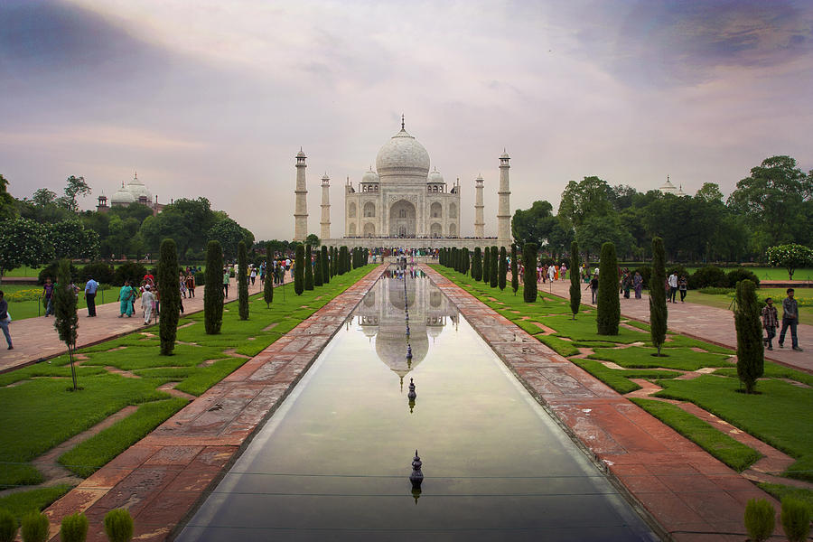 Taj Mahal at Sundown by Jed Holtzman