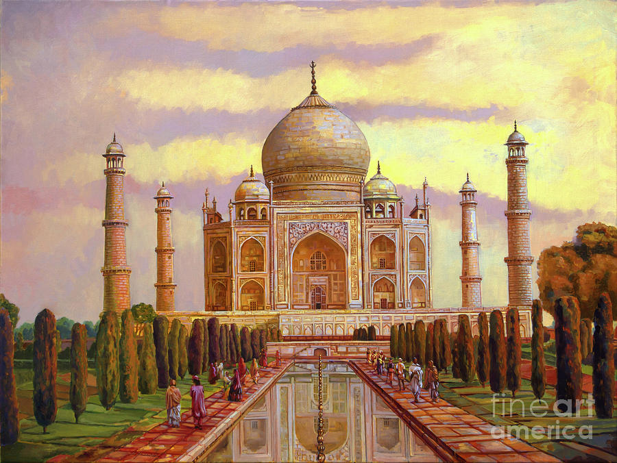 Painting Painting - Taj Mahal by Dominique Amendola