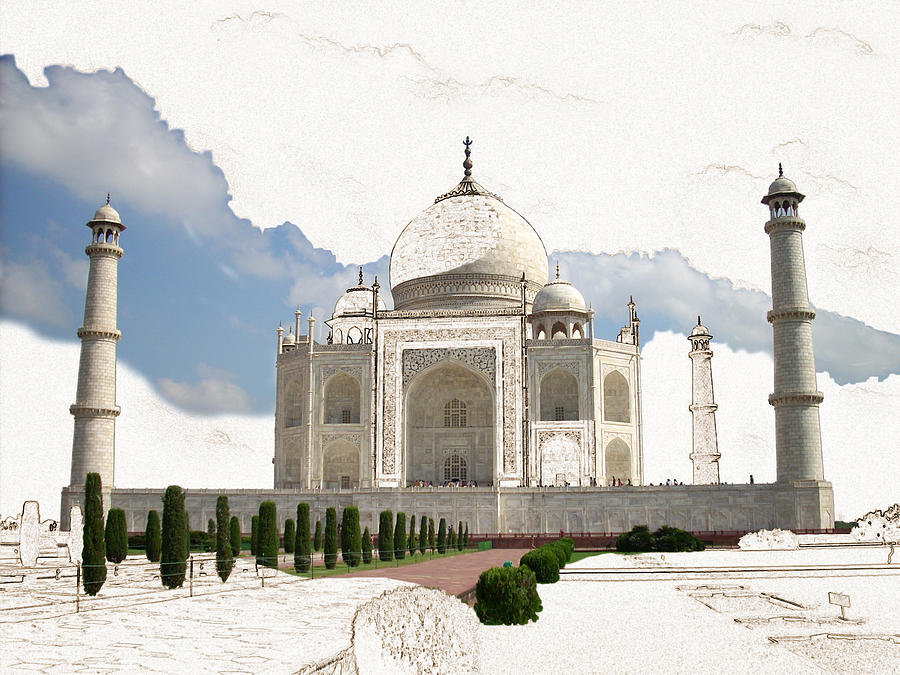 Taj Mahal Digital Art - Taj Mahal Dreams Of India by Karla Beatty