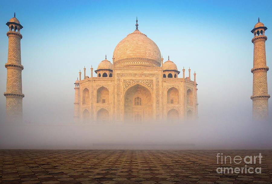 Agra Photograph - Taj Mahal In The Mist by Inge Johnsson