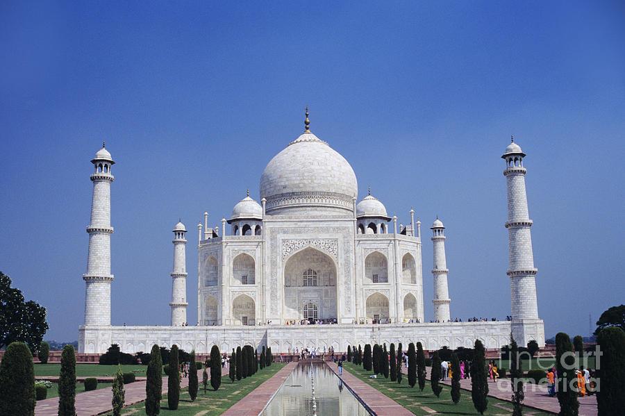 Agra Photograph - Taj Mahal Landscape by Gloria & Richard Maschmeyer - Printscapes