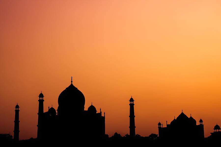 Taj Photograph - Taj Mahal Silhouette by Nila Newsom