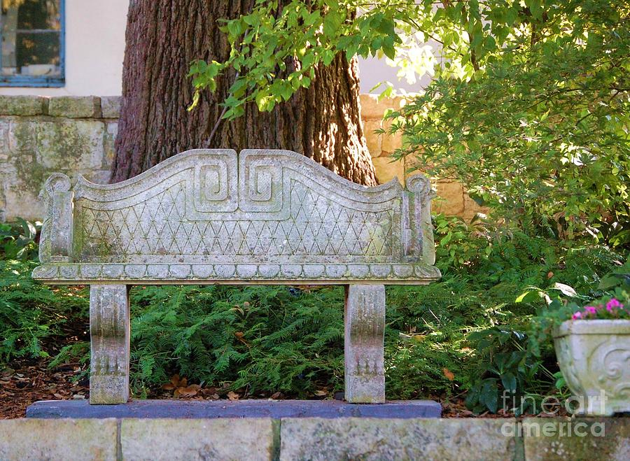 Bench Photograph - Take A Break by Debbi Granruth